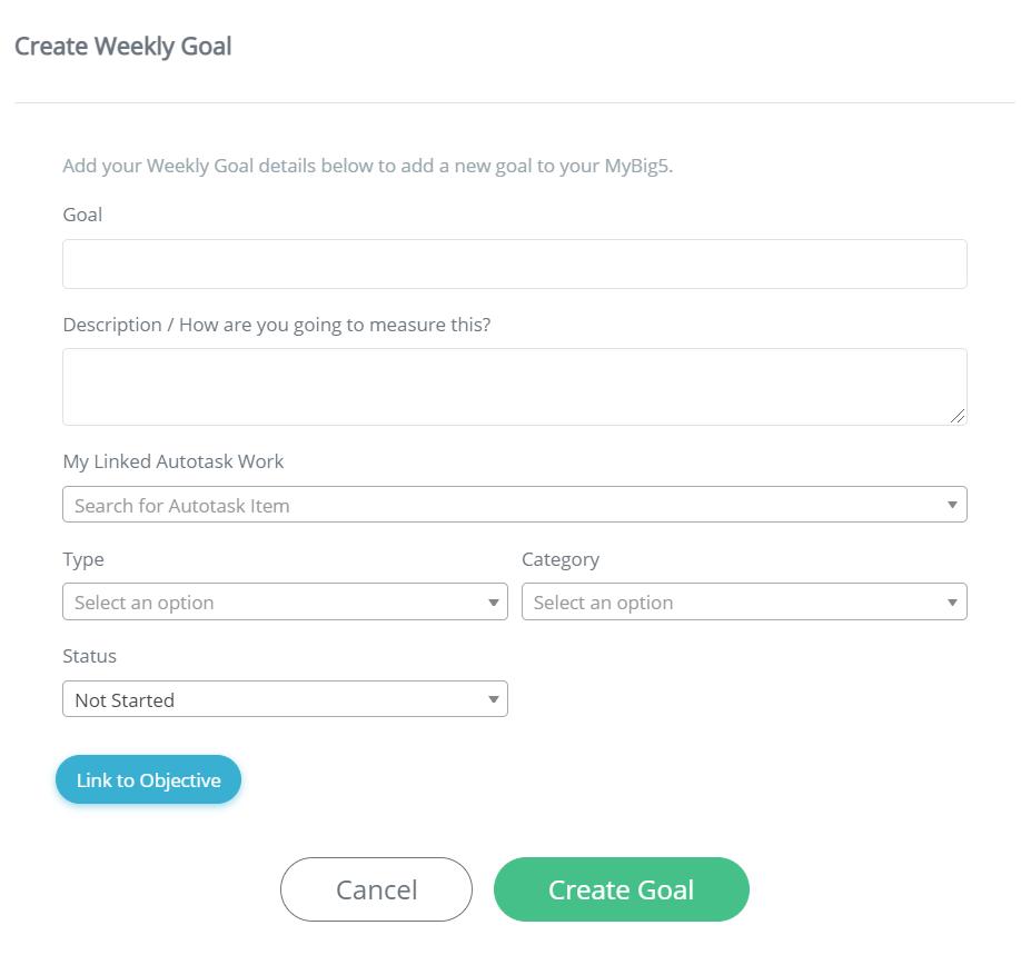 screenshot goal app