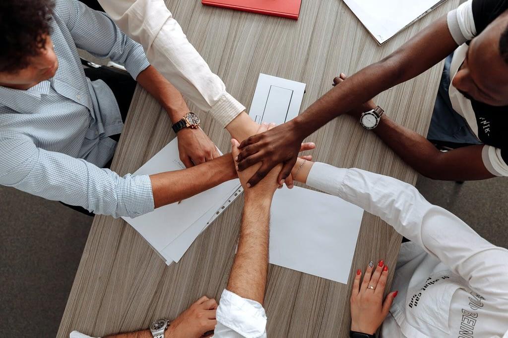 people team hands